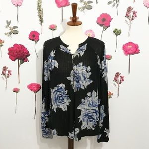 • Lucky Brand • Floral Blouse